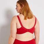 Червен дамски сутиен макси размер
