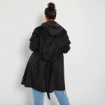 Шлифер от изкуствен велур макси размер