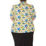 Риза с къс ръкав макси размер