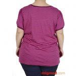 Дамска блуза с къс ръкав макси размер